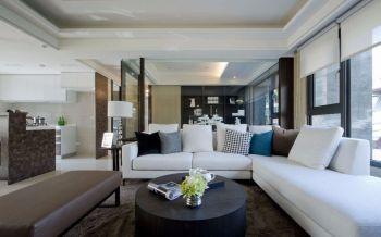 120平米现代风格舒适三房白色装修效果图