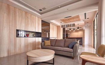 120平米木质舒适三居室简约装修效果图