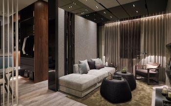 60平米简奢一居室古典简约咖啡色装修效果图