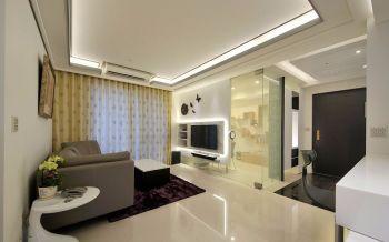 100平米都市现代风格家装三居室装修效果图