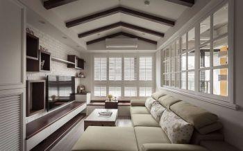 80平米欧式乡村风格家居设计装修效果图