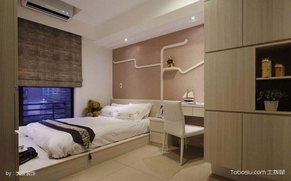 卧室白色榻榻米简欧风格装潢设计图片