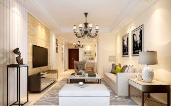 融科城两室两厅一厨一卫户型现代简约风格装修效果