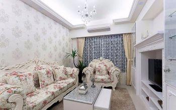100平米欧式田园典雅装修两居室装修效果图