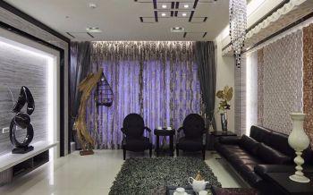 110平米现代风格混搭典雅三室两厅装修效果图