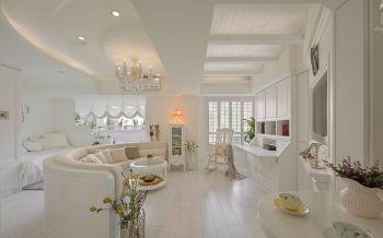 80平米浪漫田园白色套房装修效果图
