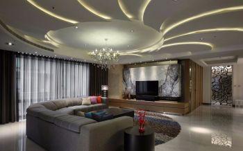 120平米现代简约港式平层设计家居套房装修效果图