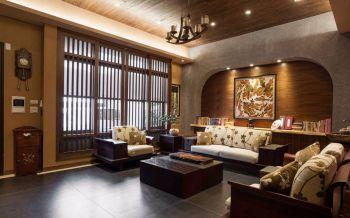 100平米韩式混搭风格咖啡色套房装修设计效果图