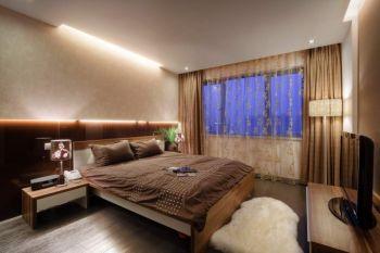 卧室咖啡色床现代简约风格装饰图片