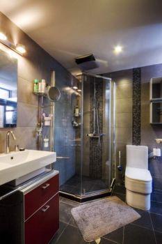 卫生间灰色背景墙现代简约风格装潢图片