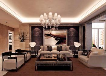 水韵豪庭120平米现代简约混搭三室两厅装修效果图