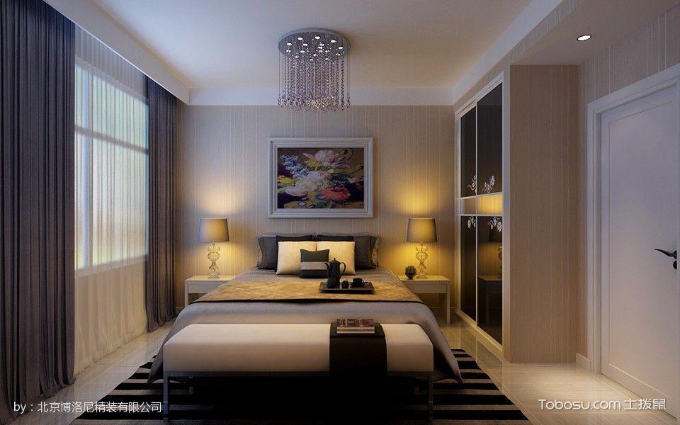 卧室白色吊顶现代简约风格装修效果图