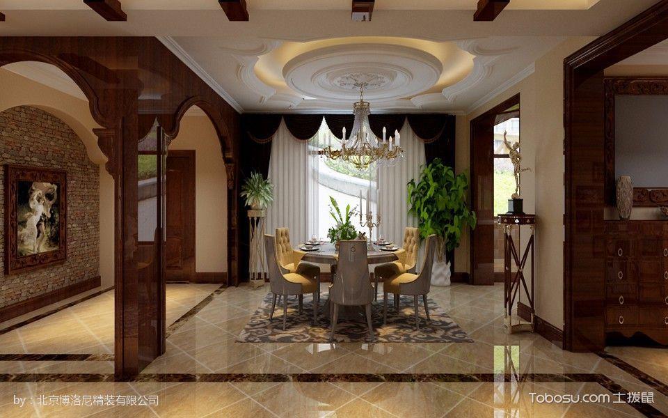 客厅白色吊顶美式风格装修图片