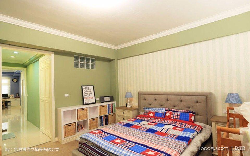 卧室彩色床美式风格装饰图片