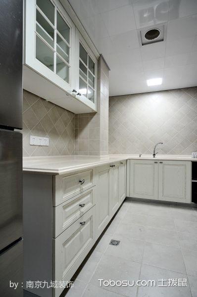 厨房白色吊顶现代简约风格装饰效果图