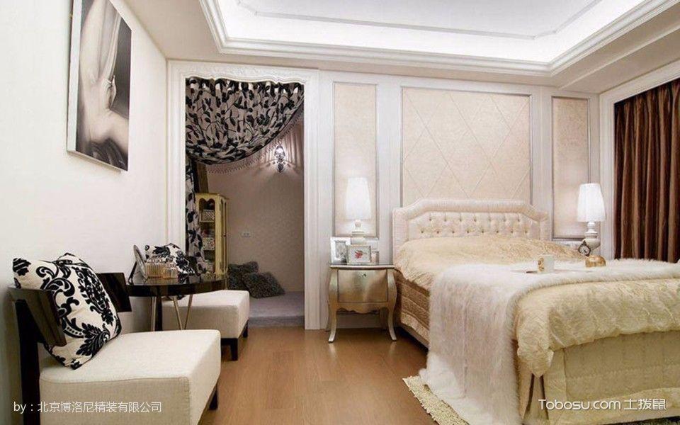 卧室白色床新古典风格装饰图片