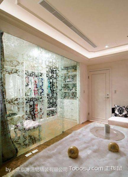 卧室白色衣柜新古典风格装修设计图片