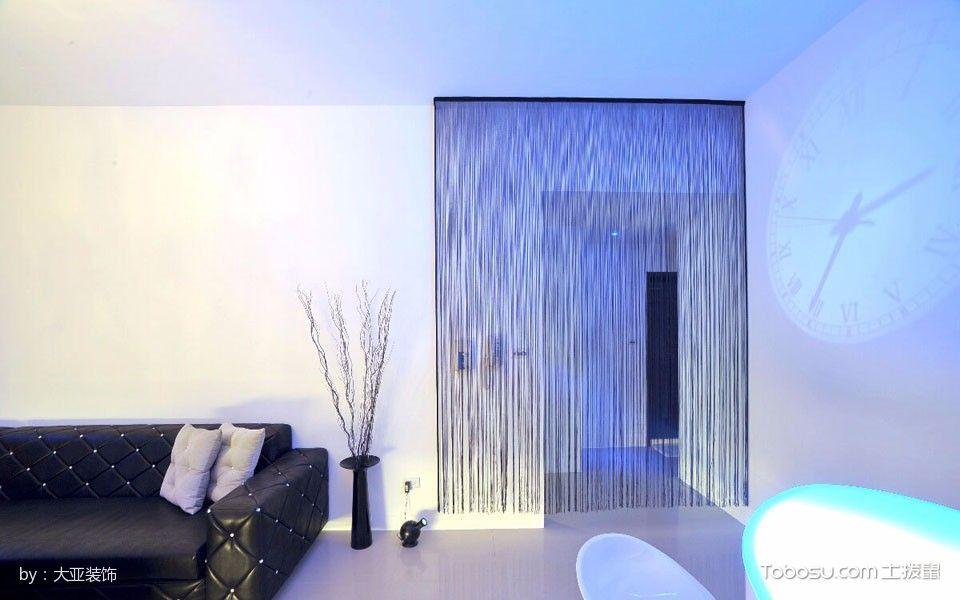 客厅紫色隔断简单风格装修效果图