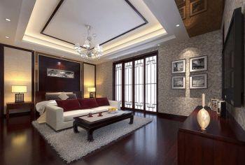 天津大都会120平米现代中式典雅四室彩色装修图