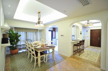 餐厅白色吊顶地中海风格效果图