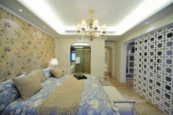 卧室黄色背景墙地中海风格装饰效果图
