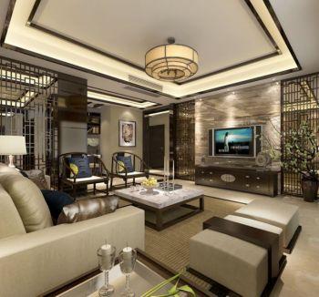 120平米黄色中式风格雅致套房设计案例图