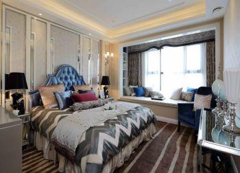 卧室彩色床现代欧式风格装修效果图