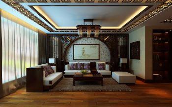 客厅黄色吊顶中式风格装饰图片