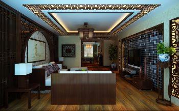客厅黄色走廊中式风格装修设计图片