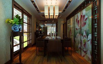 餐厅彩色灯具中式风格效果图
