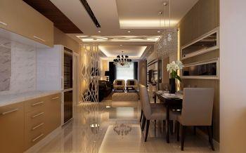 餐厅咖啡色走廊现代简约风格装修图片