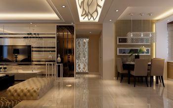 客厅咖啡色走廊现代简约风格装饰图片