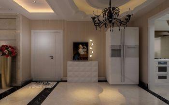 客厅白色走廊现代欧式风格装潢效果图