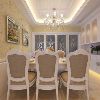 餐厅黄色照片墙简欧风格装饰设计图片