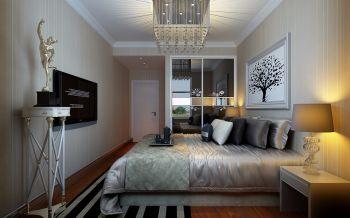 卧室白色吊顶现代欧式风格装潢设计图片