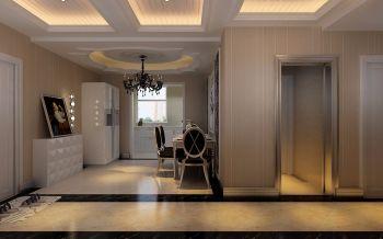 餐厅白色走廊现代欧式风格效果图