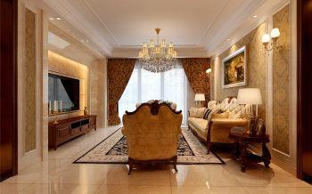 客厅白色吊顶现代欧式风格装潢设计图片