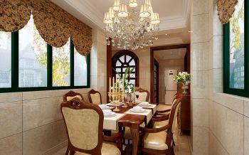 餐厅咖啡色餐桌现代欧式风格装饰效果图