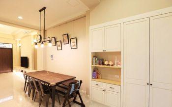 餐厅咖啡色餐桌美式风格效果图