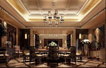 餐厅黄色吊顶欧式风格装饰效果图