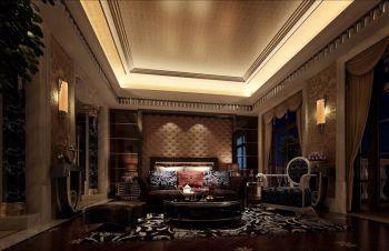 120平米咖啡色海逸长洲欧式新古典风格别墅装修效果图