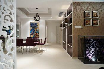 餐厅咖啡色照片墙现代简约风格装潢设计图片