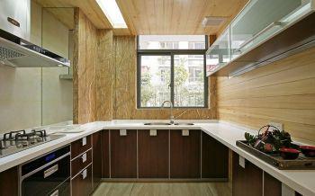 厨房黄色背景墙中式风格装修设计图片