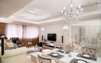 100平米白色新古典浪漫简约风二居室装修效果图