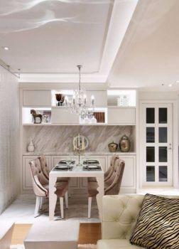 餐厅白色吊顶新古典风格装潢效果图