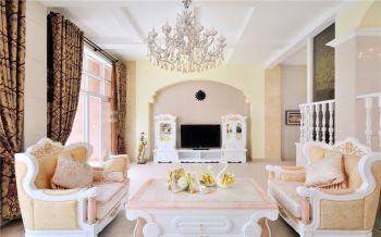 客厅背景墙简欧风格装饰效果图