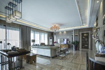120平米彩色中海国际现代混搭风格三居室装修效果图