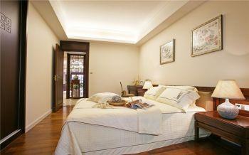 卧室白色床中式风格装饰效果图