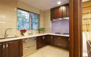 厨房黄色细节中式风格装修图片
