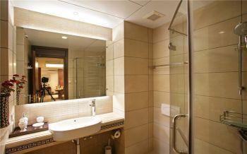 卫生间白色隐形门中式风格装饰图片